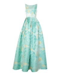 Adrianna Papell | Metallic Floral Jacquard Gown | Lyst