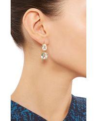 Renee Lewis Green 18K Yellow Gold Aquamarine Earrings
