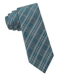 Calvin Klein | Blue Plaid Tie for Men | Lyst