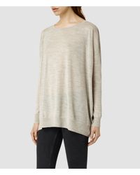 AllSaints - Gray Flore Sweater - Lyst