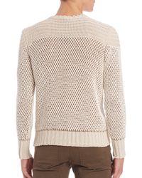 Belstaff Natural Kamden Knit Sweater for men