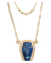 H&M - Blue Multistrand Necklace - Lyst