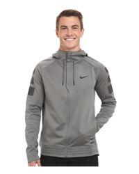 Nike - Gray Elite Stripe Hoodie for Men - Lyst