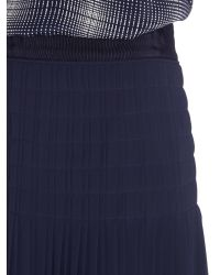 Part Two Blue Needle Pleated Skirt