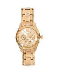 River Island   Metallic Gold Tone Glamorous Watch   Lyst