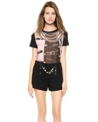 Moschino | Cheap and Chic Short Sleeve Top Black | Lyst