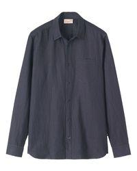 Toast | Blue Regular Fit Heavy Linen Shirt for Men | Lyst