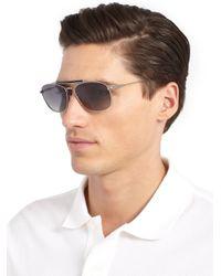 Tom Ford Metallic Marlon Metal Aviator Sunglasses for men