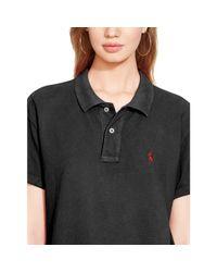 Polo Ralph Lauren - Black Boyfriend Polo Shirt - Lyst