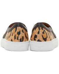 Givenchy Multicolor Leopard Print Slip_on Sneakers