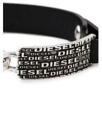 DIESEL - Black 'aligos' Bracelet for Men - Lyst