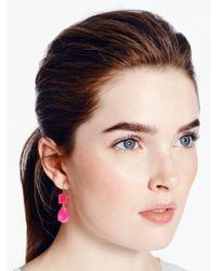 kate spade new york Pink Vegas Jewels Drop Earrings