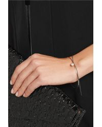 Inez & Vinoodh - Metallic 18-Karat Rose Gold, Oxidized Silver And Pearl Interlinked Bracelets - Lyst