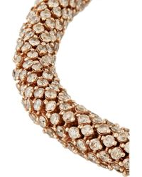 Carolina Bucci Metallic Twister Luxe 18karat Rose Gold Diamond Bracelet