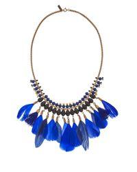 Isabel Marant - Blue Kayapo Feather Necklace - Lyst