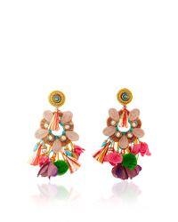 Ranjana Khan | Multicolor Rose Quartz Fringe Earrings | Lyst