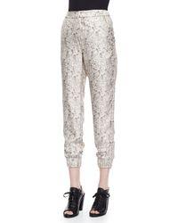 Rag & Bone Natural Alfred Floral-Print Pants