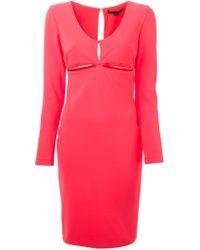 Alexander Wang - Red Cut Out Dress - Lyst