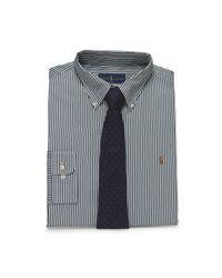 Polo Ralph Lauren | Green Striped Broadcloth Dress Shirt for Men | Lyst