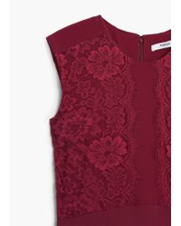 Mango - Red Lace Gown - Lyst