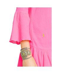 Polo Ralph Lauren - Pink Ruffled Cotton Tunic - Lyst