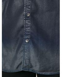 Diesel Black Gold Blue Coated Shirt for men