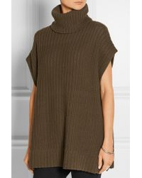 Theory Multicolor Wool And Cashmere-blend Poncho