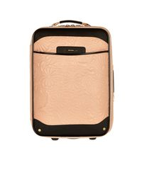River Island Light Pink Floral Quilted Suitcase