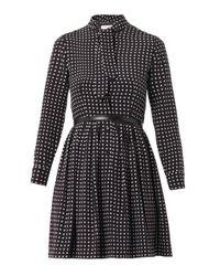 Saint Laurent - Black Polka Dot Dress - Lyst