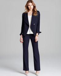 Adrianna Papell - Blue Soft Blazer with Asymmetric Closure - Lyst