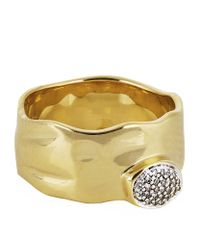 Monica Vinader Metallic Siren Diamond Wide Band Ring