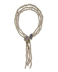 Alexis Bittar - Multicolor Reversible Drop Cluster Necklace - Lyst