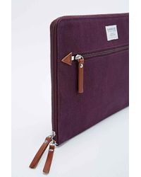 "Sandqvist Purple Lena 13"" Laptop Sleeve In Plum for men"