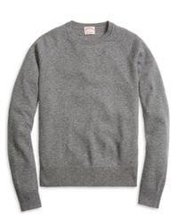 Brooks Brothers | Gray Cashmere Crewneck Sweater for Men | Lyst
