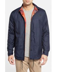 The North Face - Blue 'fort Point' Reversible Jacket for Men - Lyst