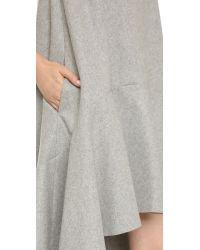 Edit Gray Asymmetrical Dress - Grey