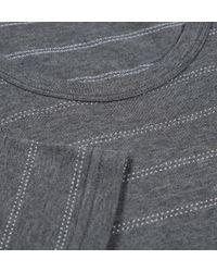 Sunspel - Gray Men's Long-staple Cotton T-shirt With Dot Stripe for Men - Lyst