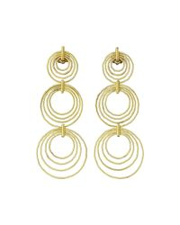 Buccellati | Metallic 18k Gold Hawaii Triple-drop Earrings | Lyst
