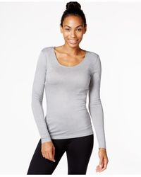 32 Degrees | Gray Solid Scoop Neck Baselayer Top | Lyst