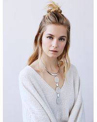 Free People | Metallic Written In The Stars Ladder Necklace | Lyst