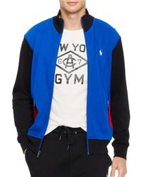 Polo Ralph Lauren | Blue Colorblocked Interlock Track Jacket for Men | Lyst