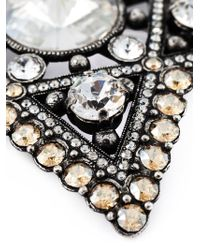 Lanvin Metallic Crystal Embellished Star Brooch