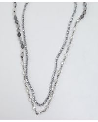 Chan Luu - Gray Grey and Silver Quartz Beaded Necklace - Lyst