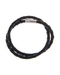 Tateossian Blue Silver Pop Cobra Bracelet for men