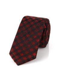 HUGO | Red Silk Tie: 'tie Cm 4.5' for Men | Lyst
