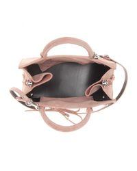 Balenciaga Pink Mini Papier A4 Suede Shoulder Bag