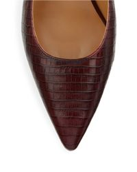 Nine West | Red Margot Crocodile Embossed Leather Pumps | Lyst