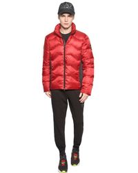EA7 Red Nylon Ripstop Down Jacket