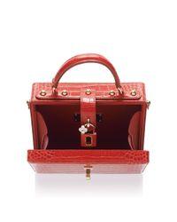 Dolce & Gabbana Red Crocodile Box Bag