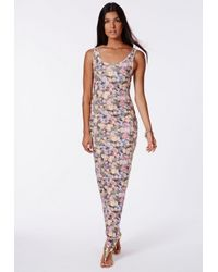 Missguided - Multicolor Bozena Floral Maxi Dress - Lyst